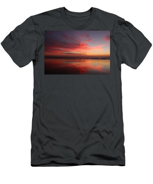 Ocean Sunset Reflected  Men's T-Shirt (Athletic Fit)