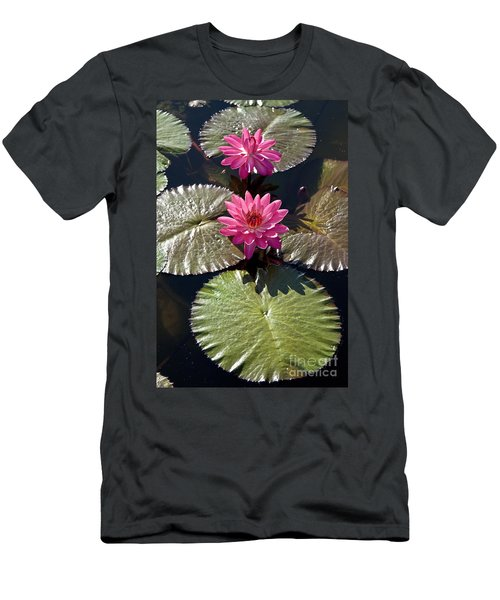 Pink Water Lily IIi Men's T-Shirt (Athletic Fit)