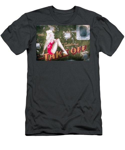 Pinup Girl - Aircraft Nose Art - Take Off Anne Men's T-Shirt (Athletic Fit)