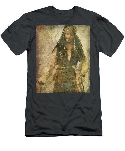 Pirate Johnny Depp - Steampunk Men's T-Shirt (Athletic Fit)