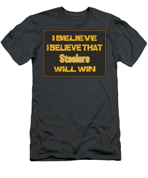 Pittsburgh Steelers I Believe Men's T-Shirt (Athletic Fit)