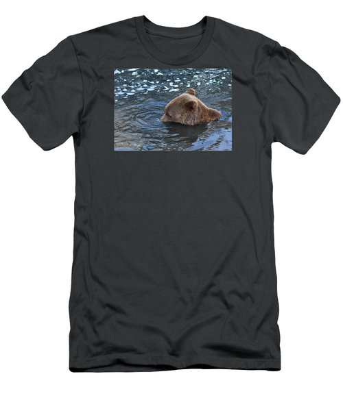 Playful Submerged Bear Men's T-Shirt (Athletic Fit)