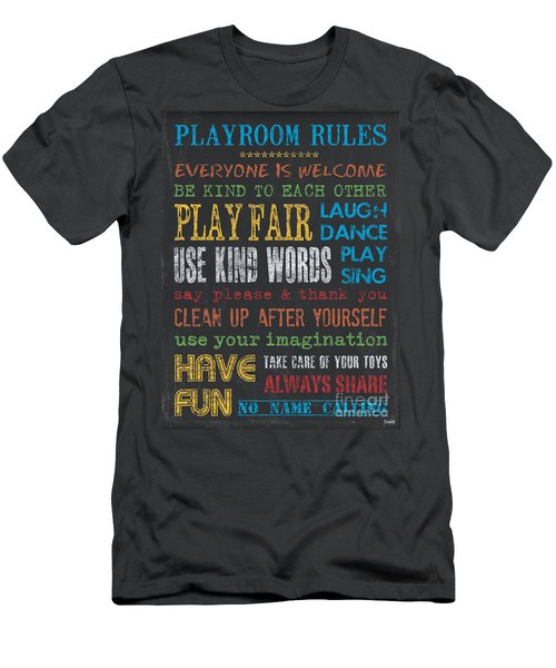 Playroom Rules Men's T-Shirt (Athletic Fit)
