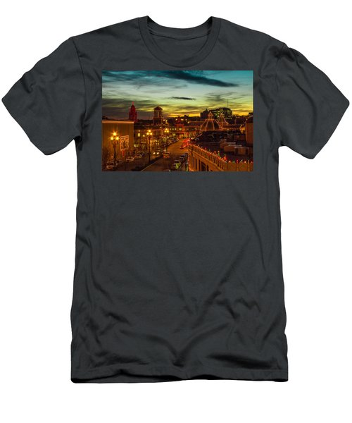 Plaza Lights At Sunset Men's T-Shirt (Athletic Fit)
