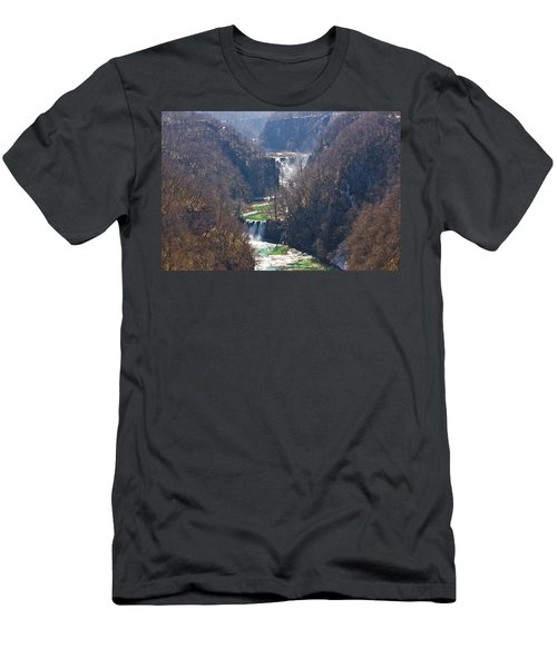 Plitvice Lakes National Park Canyon Men's T-Shirt (Athletic Fit)