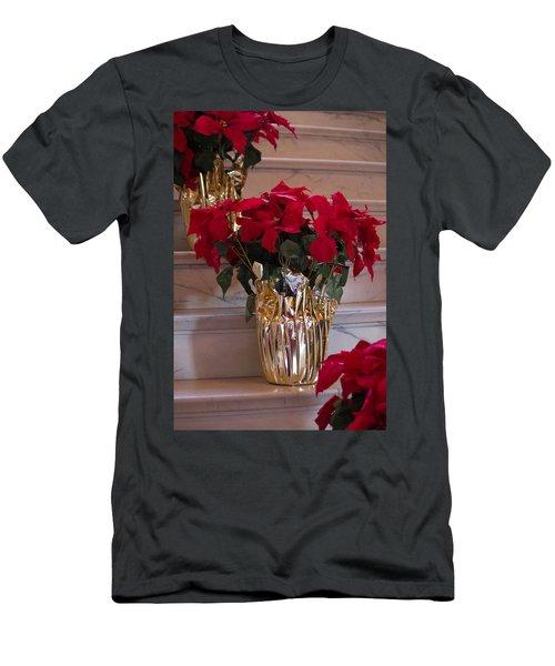 Poinsettias Men's T-Shirt (Athletic Fit)