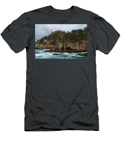 Point Lobos Coastal View Men's T-Shirt (Athletic Fit)