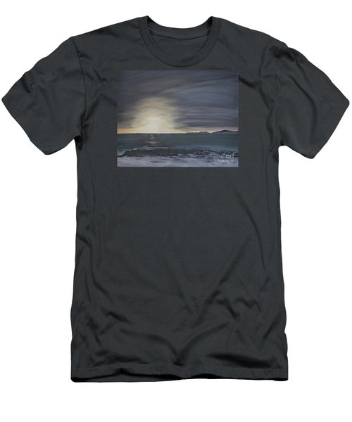 Men's T-Shirt (Slim Fit) featuring the painting Point Mugu Sunset by Ian Donley