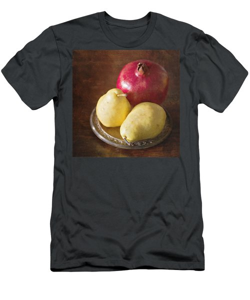 Pomegranate And Yellow Pear Still Life Men's T-Shirt (Athletic Fit)