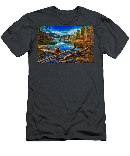 Pondering A Mountain Men's T-Shirt (Athletic Fit)