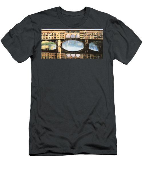 Ponte Vecchio A Firenze Men's T-Shirt (Athletic Fit)