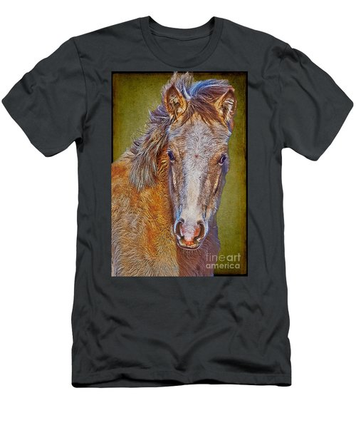 Pony Portrait  Men's T-Shirt (Athletic Fit)