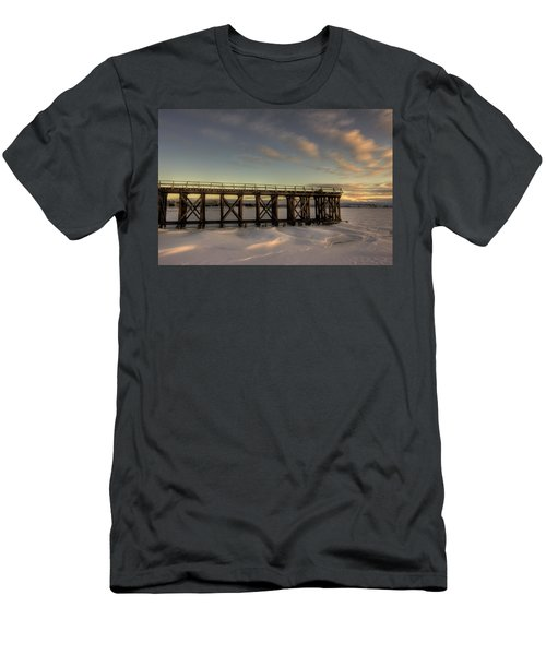 Pool 6 Loading Pier East View Men's T-Shirt (Athletic Fit)