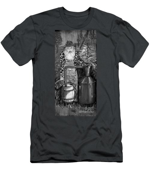Popcorn Sutton - Black And White - Legendary Men's T-Shirt (Athletic Fit)