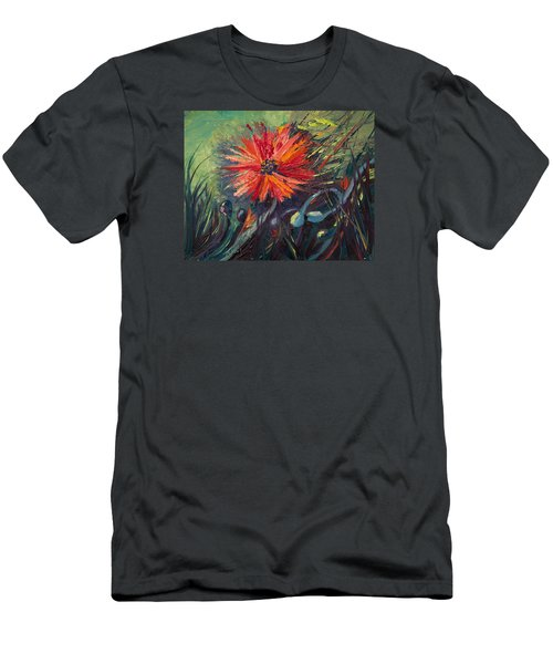 Poppin' Poppies Men's T-Shirt (Athletic Fit)