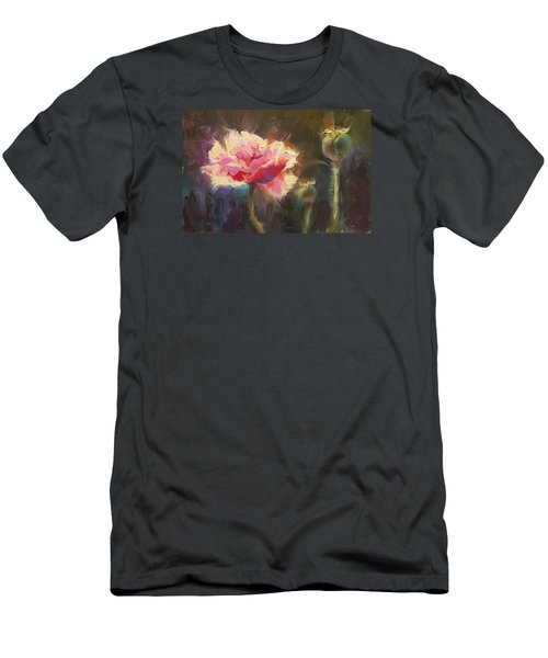 Poppy Glow Men's T-Shirt (Slim Fit) by Karen Whitworth