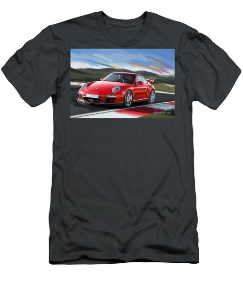 Porsche 911 Gt3 Men's T-Shirt (Slim Fit)