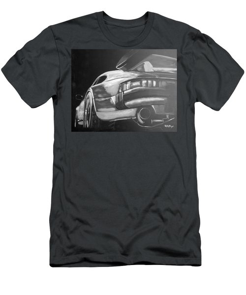 Men's T-Shirt (Athletic Fit) featuring the painting Porsche Turbo by Richard Le Page