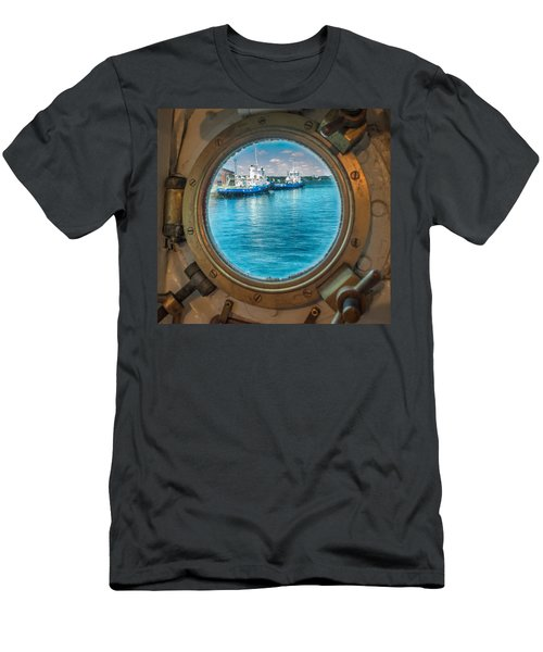 Hmcs Haida Porthole  Men's T-Shirt (Athletic Fit)
