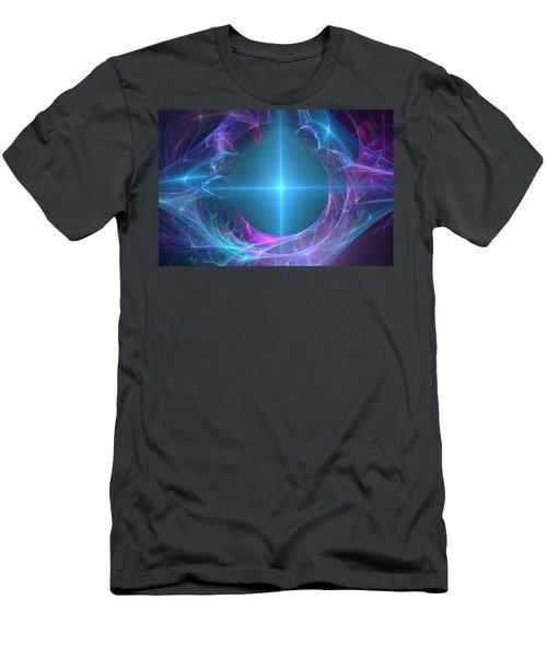 Men's T-Shirt (Slim Fit) featuring the digital art Portal To The Unknown by Svetlana Nikolova
