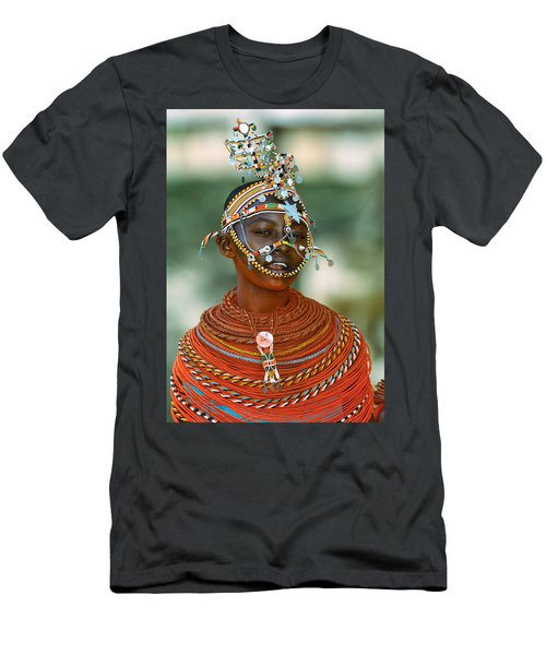 Portrait Of A Teenage Girl Smiling Men's T-Shirt (Athletic Fit)