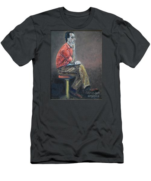 Portrait Of Ali Akrei - The Painter Men's T-Shirt (Athletic Fit)