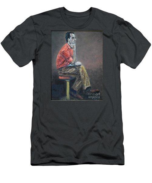Portrait Of Ali Akrei - The Painter Men's T-Shirt (Athletic Fit)