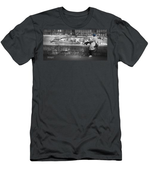 Men's T-Shirt (Athletic Fit) featuring the photograph Positive Meditation On The River by Stwayne Keubrick