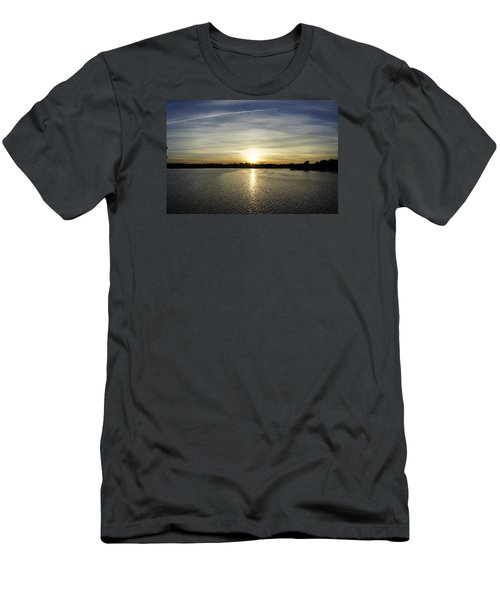 Potomac Sunset Men's T-Shirt (Slim Fit) by Laurie Perry