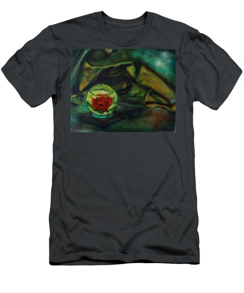 Preserved Rose . . Draped Canvas Men's T-Shirt (Athletic Fit)