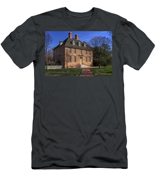 Men's T-Shirt (Slim Fit) featuring the photograph President's House College Of William And Mary by Jerry Gammon