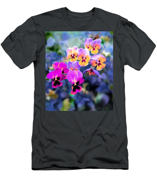 Pretty Pansies 3 Men's T-Shirt (Athletic Fit)