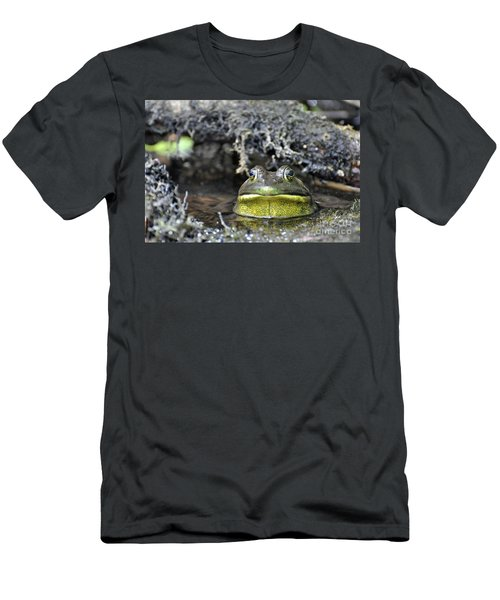 Men's T-Shirt (Slim Fit) featuring the photograph Bullfrog by Glenn Gordon