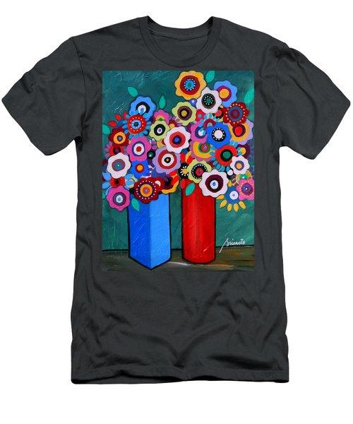 Prisarts Florals II Men's T-Shirt (Athletic Fit)