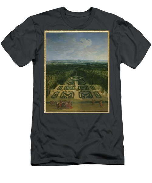 Promenade Of Louis Xiv 1638-1715 In The Gardens Of The Grand Trianon, 1713 Oil On Canvas Men's T-Shirt (Athletic Fit)