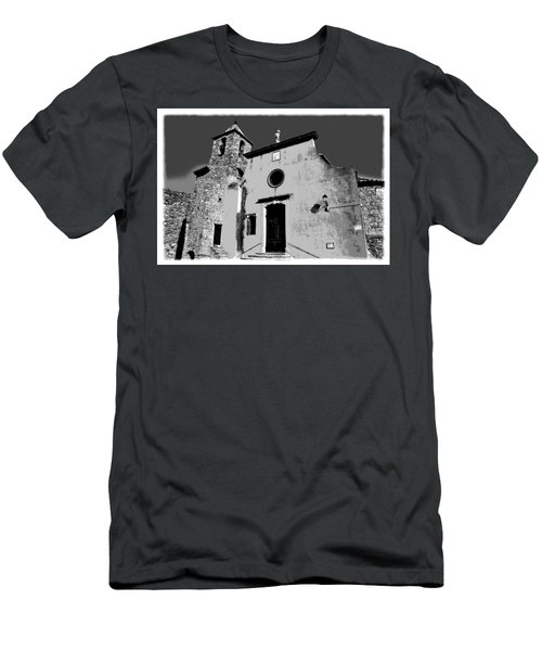 Provencal Church  Men's T-Shirt (Athletic Fit)