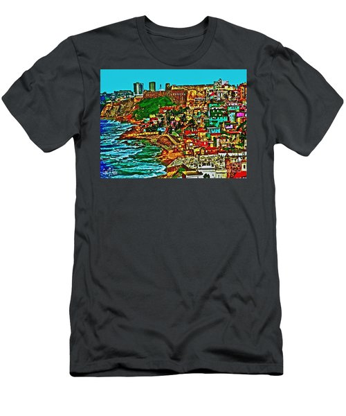 Puerto Rico Old San Juan  Men's T-Shirt (Athletic Fit)