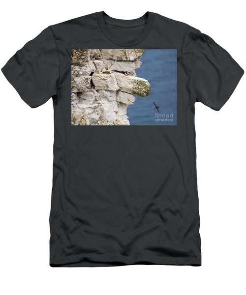 Puffin Peeps From Under A Rock Men's T-Shirt (Athletic Fit)