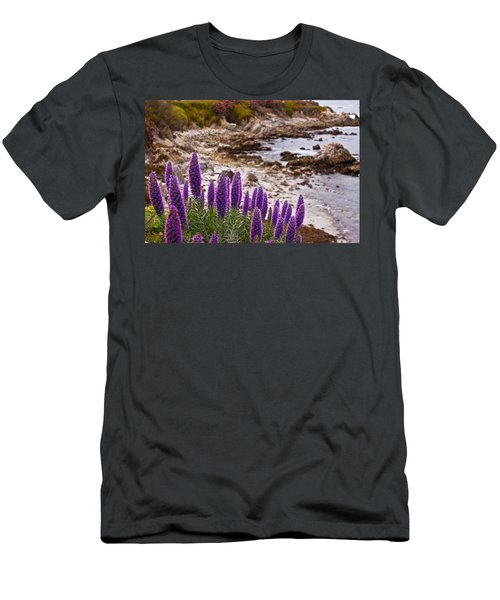 Purple California Coastline Men's T-Shirt (Athletic Fit)