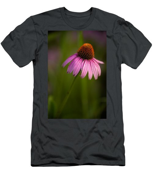 Purple Cone Flower Portrait Men's T-Shirt (Athletic Fit)
