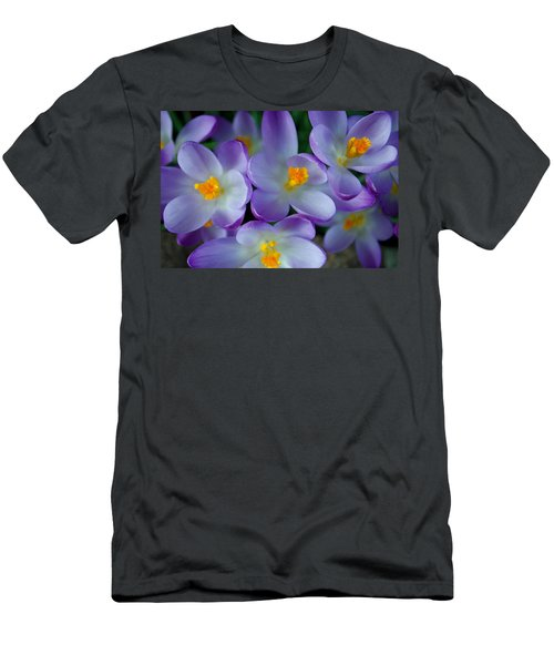 Purple Crocus Gems Men's T-Shirt (Athletic Fit)