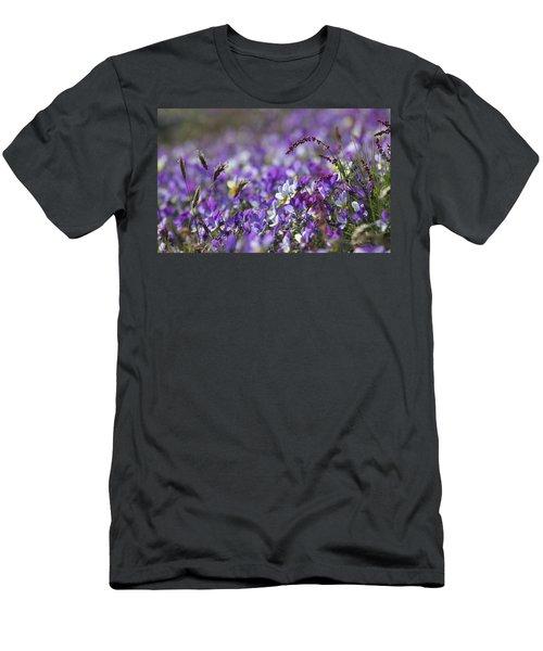 Purple Flower Bed Men's T-Shirt (Athletic Fit)