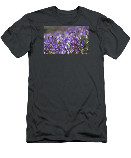 Purple Flower Bed Men's T-Shirt (Athletic Fit)