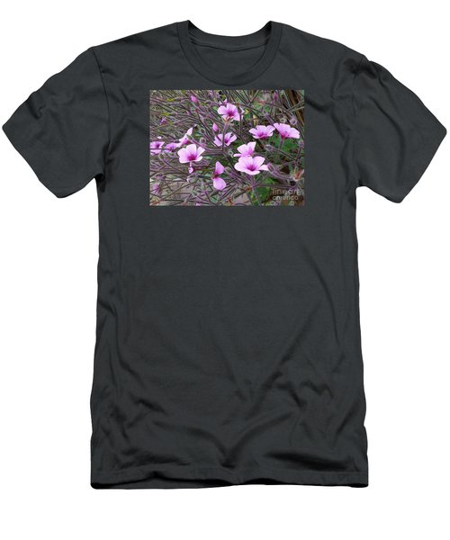 Men's T-Shirt (Slim Fit) featuring the photograph Purple Flowers by Jasna Gopic