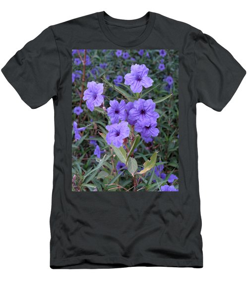 Men's T-Shirt (Slim Fit) featuring the photograph Purple Flowers by Laurel Powell