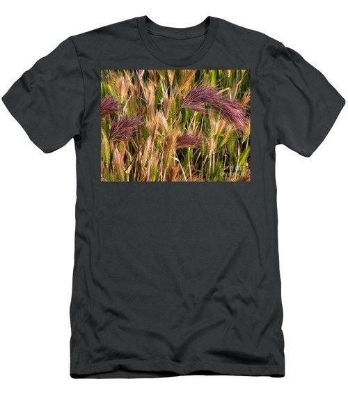 Purple Grasses Men's T-Shirt (Athletic Fit)