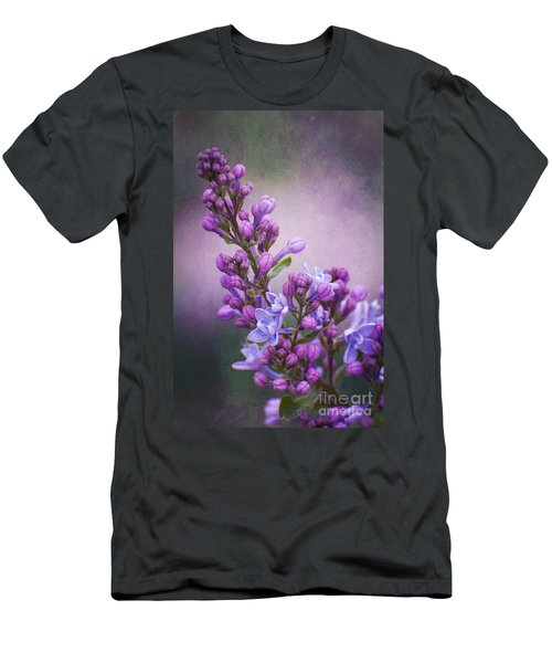 Purple Lilacs Men's T-Shirt (Athletic Fit)