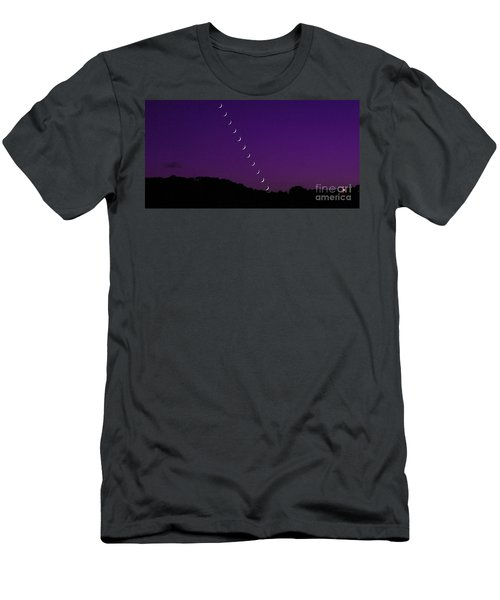 Purple Moon Setting In West Men's T-Shirt (Athletic Fit)