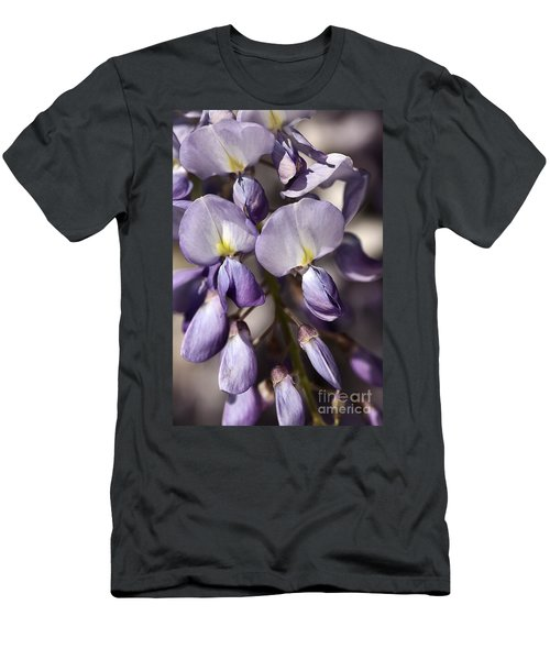 Men's T-Shirt (Slim Fit) featuring the photograph Purple Of Wisteria by Joy Watson