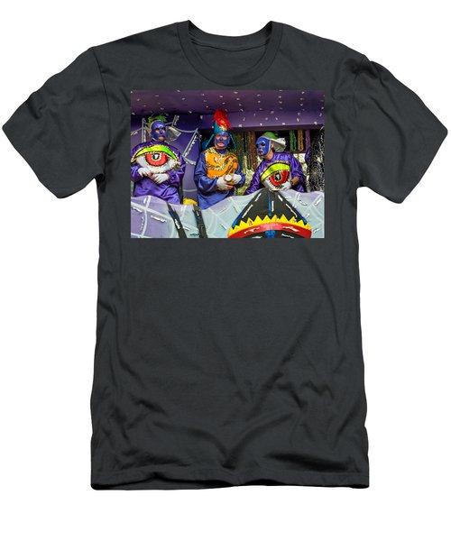 Purple Party People Men's T-Shirt (Athletic Fit)